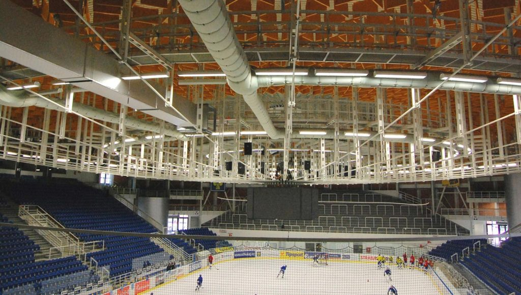 Système d'aération arena Montréal