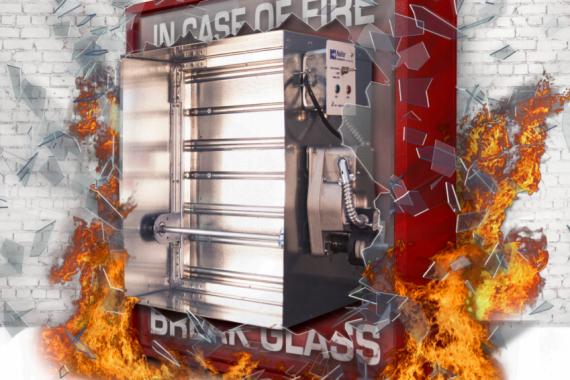 volet coupe-feu/fumée de NAILOR de la série 1220